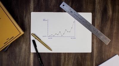 グラフ推移を表す画像