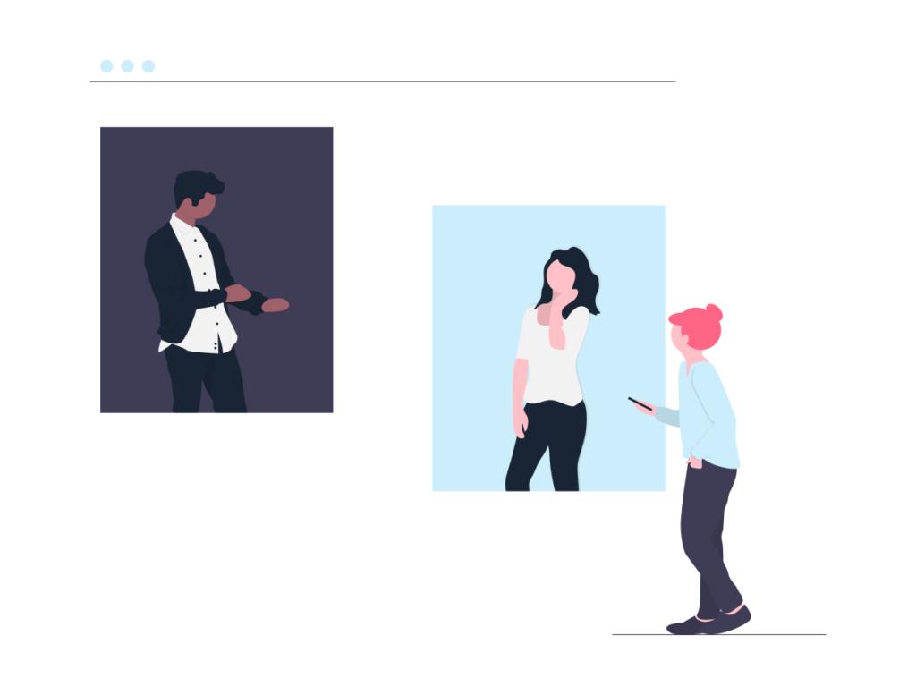 オンライン会議をしている画像